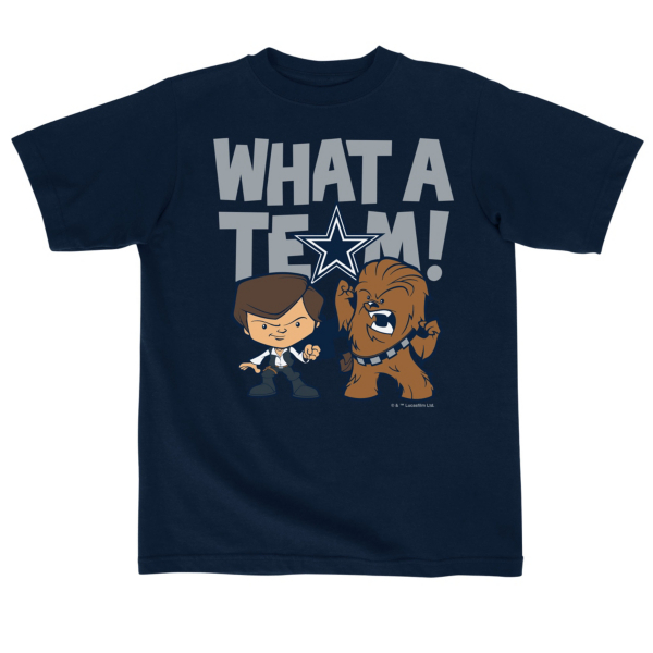 Dallas Cowboys Star Wars Kids What A Team Tee