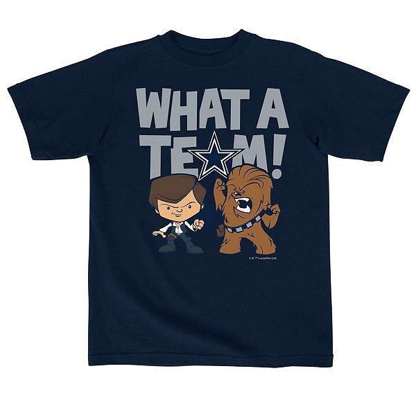 Dallas Cowboys Star Wars Kids What A Team Tee