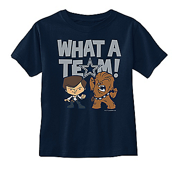 Dallas Cowboys Star Wars Toddler What A Team Tee