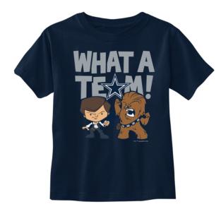 Dallas Cowboys Star Wars Toddler What A Team Tee