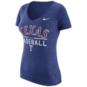 Texas Rangers Nike Womens Blue Triblend Practice Tee