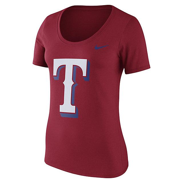Texas Rangers Nike Womens Dri-FIT Cotton Logo Tee