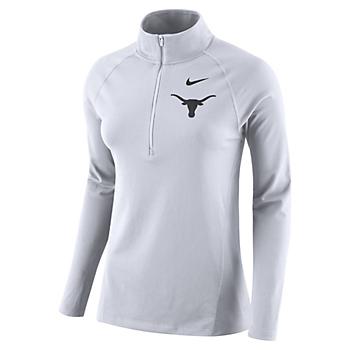 Texas Longhorns Womens Nike Element Half Zip Pullover