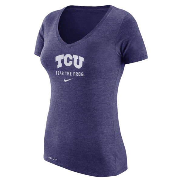 TCU Horned Frogs Nike Womens Dri-Blend Franchise Tee