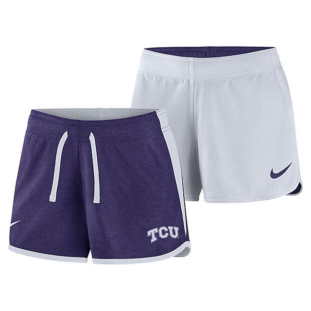 TCU Horned Frogs Nike Womens Reversible Crew Shorts