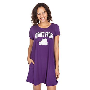 TCU Horned Frogs Tee Shirt Dress