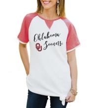 Oklahoma Sooners Believe It or Knot Raglan Waffle Tee