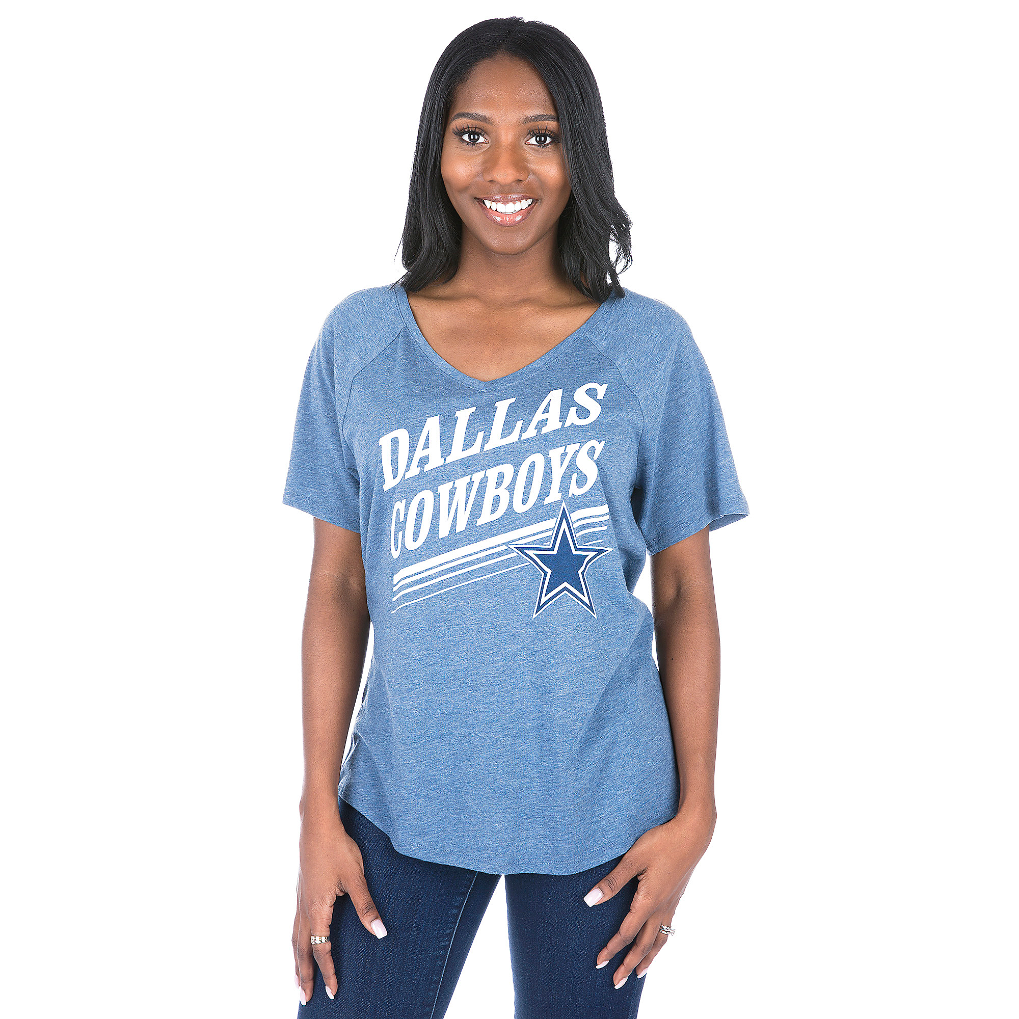 Dallas Cowboys Mitchell & Ness Tight Defense V-Neck Tee