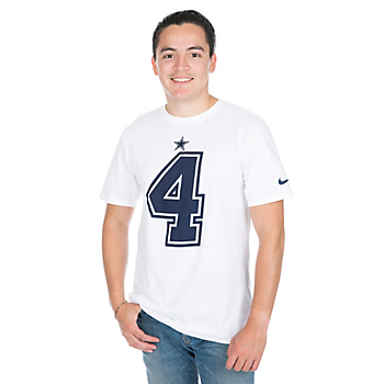 Dallas Cowboys Dak Prescott #4 Nike White Player Pride T-Shirt