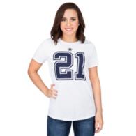 Dallas Cowboys Womens Ezekiel Elliott #21 Nike White Player Pride Tee