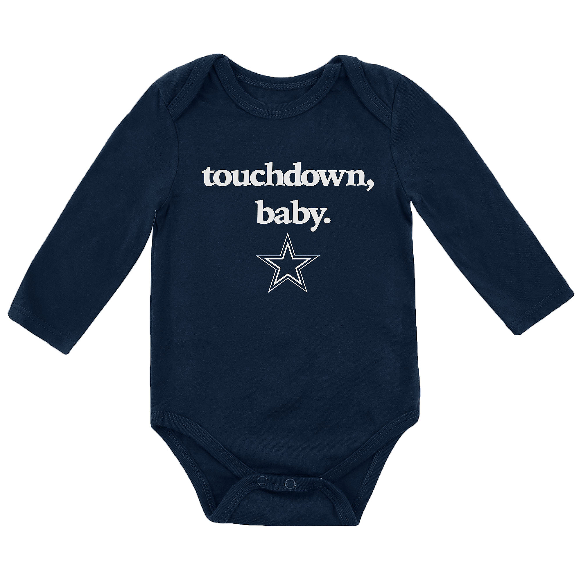 Dallas Cowboys Infant Touchdown Baby Long Sleeve Bodysuit