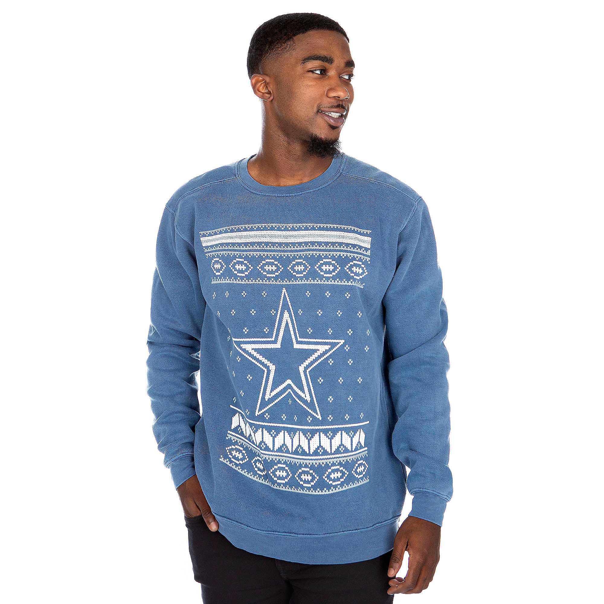 Dallas Cowboys Alta Gracia Unisex Star Crew Neck Sweatshirt