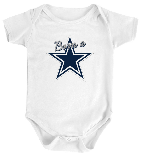 Dallas Cowboys Infant Born A Star Short Sleeve Bodysuit