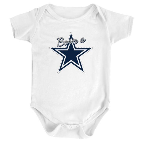 Dallas Cowboys Infant Born A Star Short Sleeve Bodysuit
