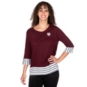 Texas A&M Aggies UG Apparel Womens Striped Panel T-Shirt