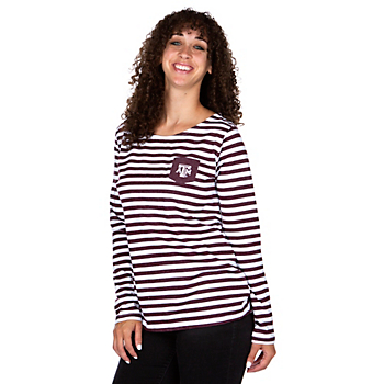 Texas A&M Aggies UG Apparel Womens Elbow Patch T-Shirt