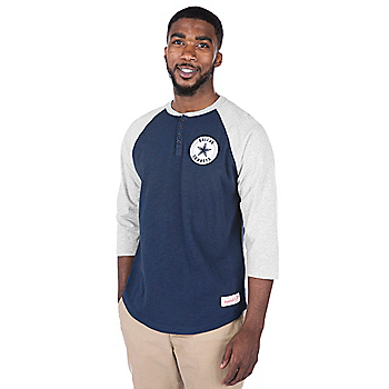 Dallas Cowboys Mitchell & Ness Unbeaten Henley Tee
