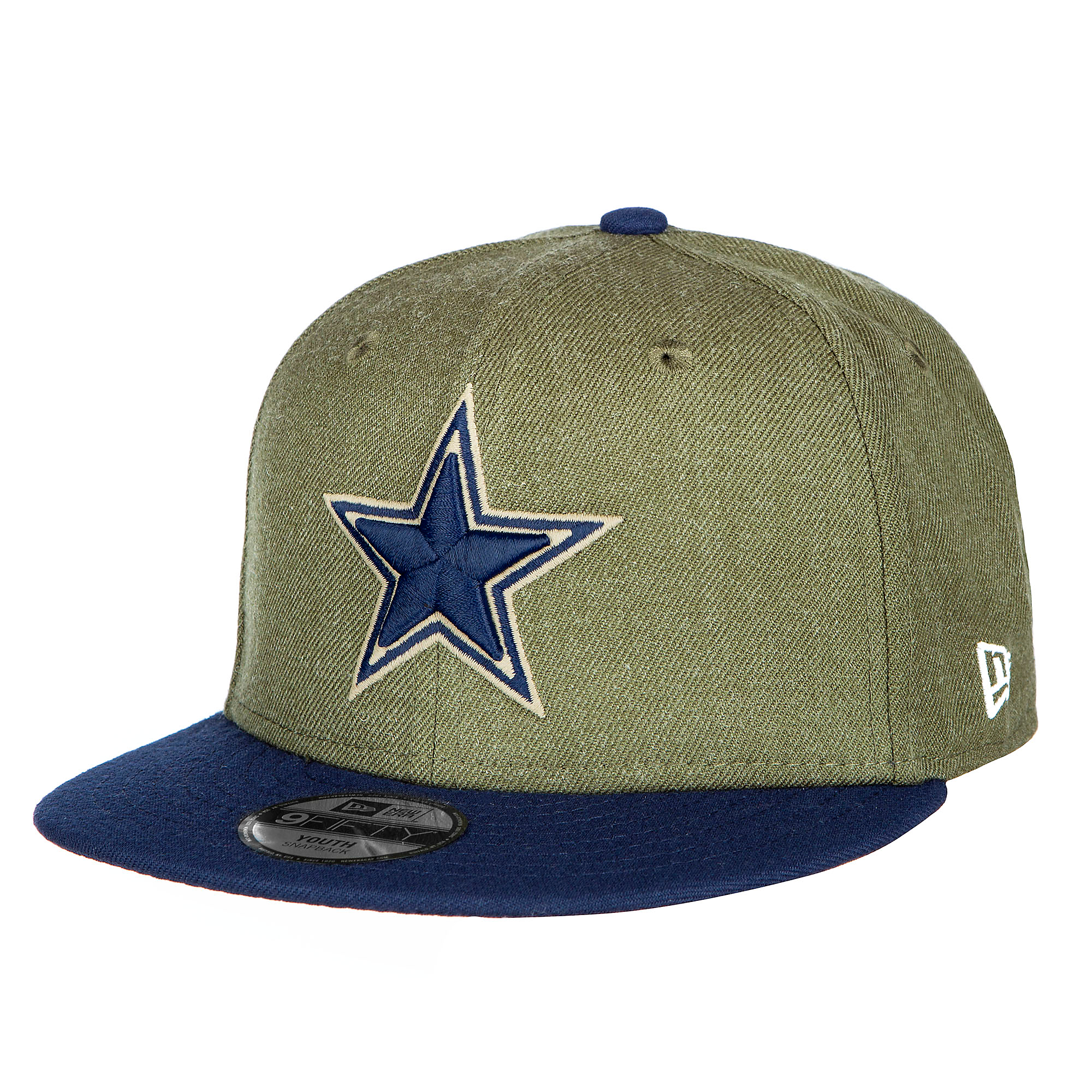 separation shoes 67b50 343c9 Dallas Cowboys New Era Salute to Service Youth 9Fifty Cap