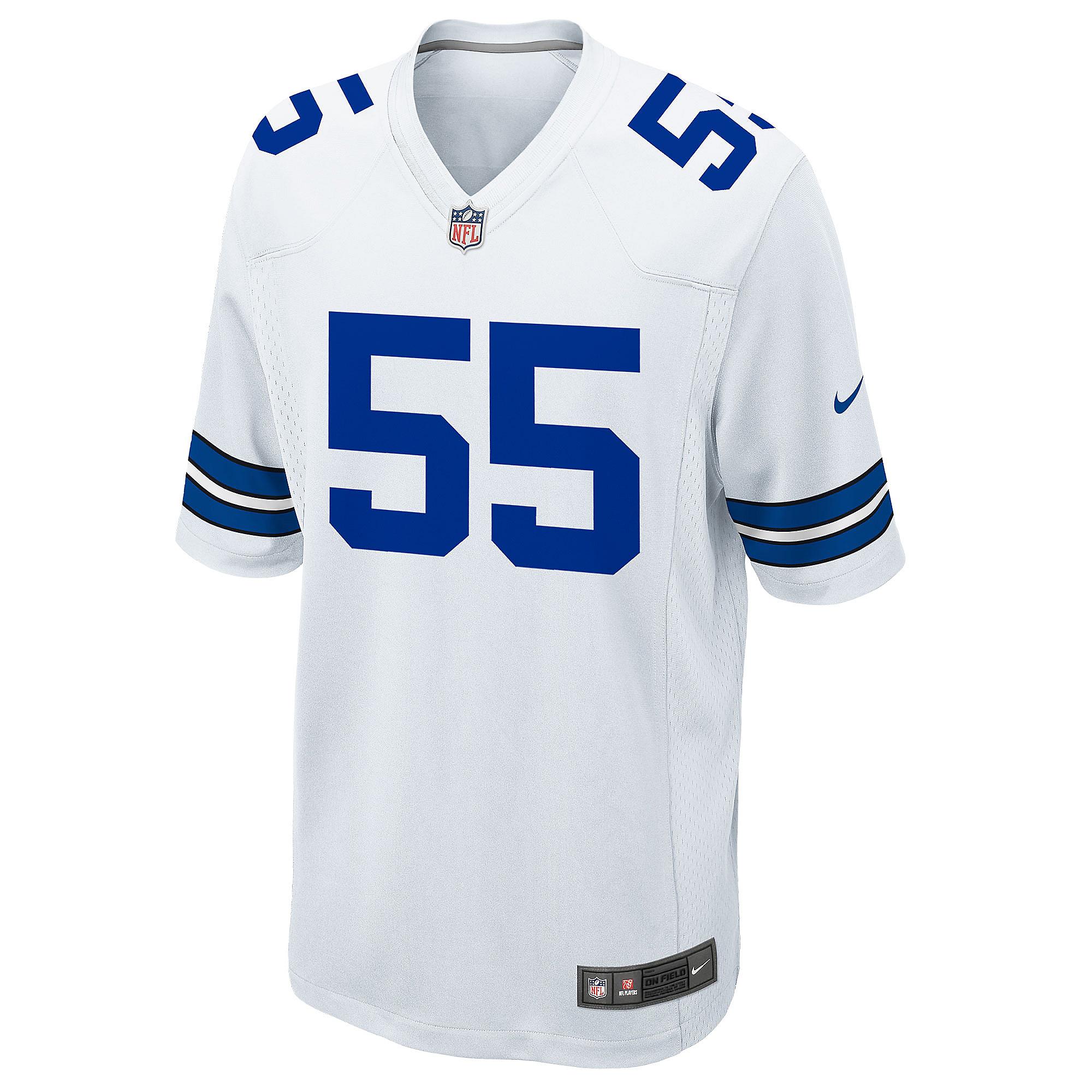 new styles 534b8 ac716 Dallas Cowboys Leighton Vander Esch #55 Nike White Game ...