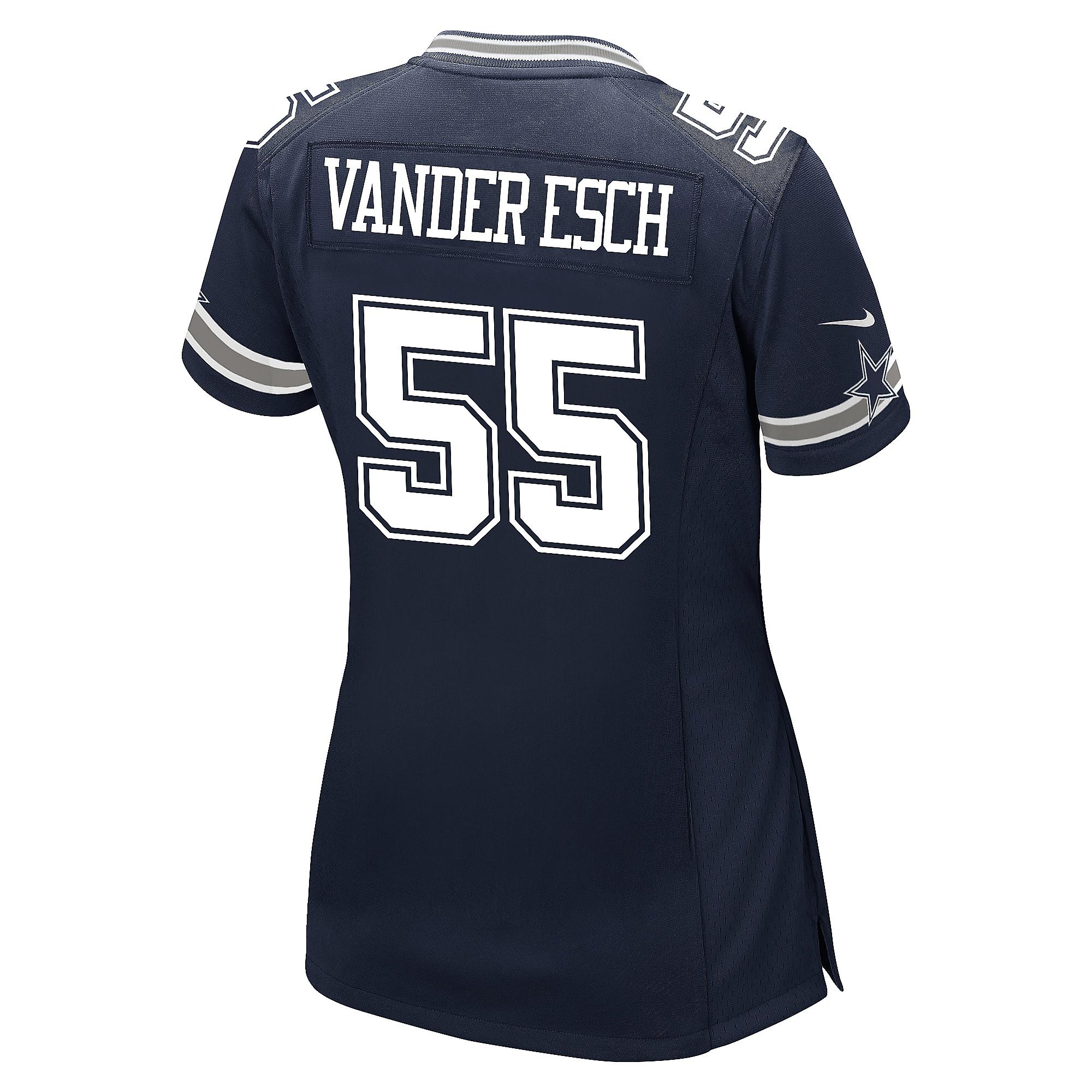 16eb445d8 ... Dallas Cowboys Leighton Vander Esch Nike Womens Navy Game Replica Jersey  ...