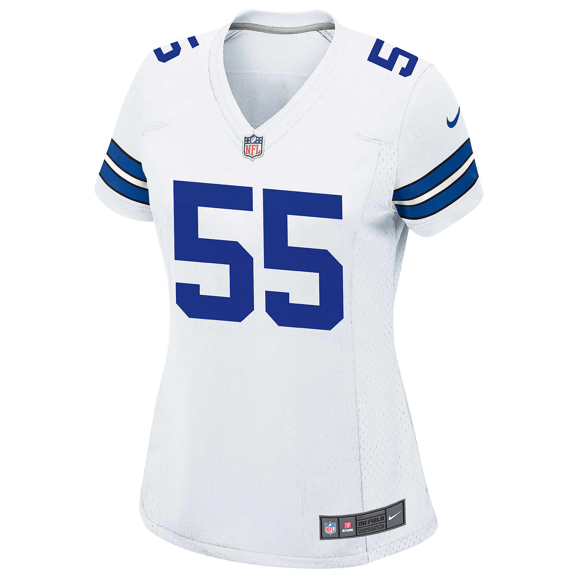 newest collection caae5 dbb1a Dallas Cowboys Leighton Vander Esch #55 Nike Womens White Game Replica  Jersey | Dallas Cowboys Pro Shop