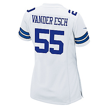 Dallas Cowboys Leighton Vander Esch #55 Nike Womens White Game Replica Jersey