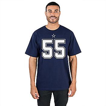 Dallas Cowboys Leighton Vander Esch #55 Authentic Name & Number Tee