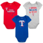 Texas Rangers Infant Big Time Fan 3-Piece Set