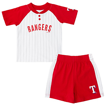 Texas Rangers Toddler Good Hit Henley and Short Set