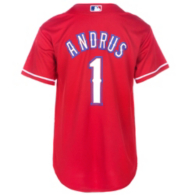 Texas Rangers Majestic Youth Elvis Andrus #1 Cool Base Replica Jersey