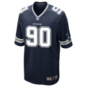Dallas Cowboys DeMarcus Lawrence #90 Nike Navy Game Replica Jersey