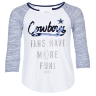Dallas Cowboys Justice Fans Have More Fun 3/4 Sleeve Tee