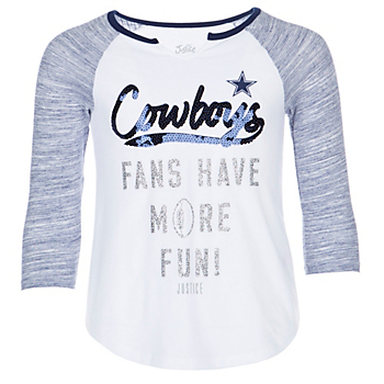 Dallas Cowboys Justice Fans Have More Fun 3/4 Sleeve T-Shirt