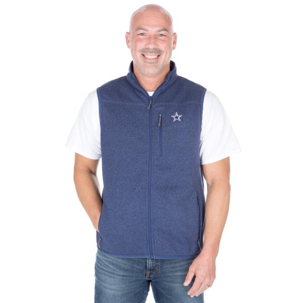 Dallas Cowboys Vineyard Vines Sweater Fleece Vest