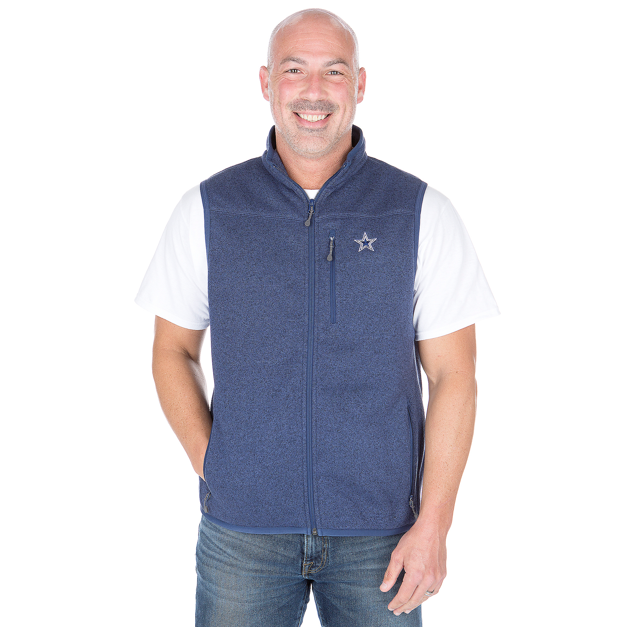 Dallas Cowboys Vineyard Vines Sweater Fleece Vest