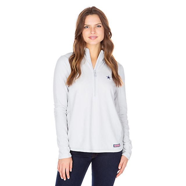 Dallas Cowboys Vineyard Vines Womens Fleece Quarter-Zip Pullover