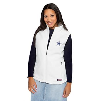 Dallas Cowboys Vineyard Vines Womens Westerly Fleece Vest