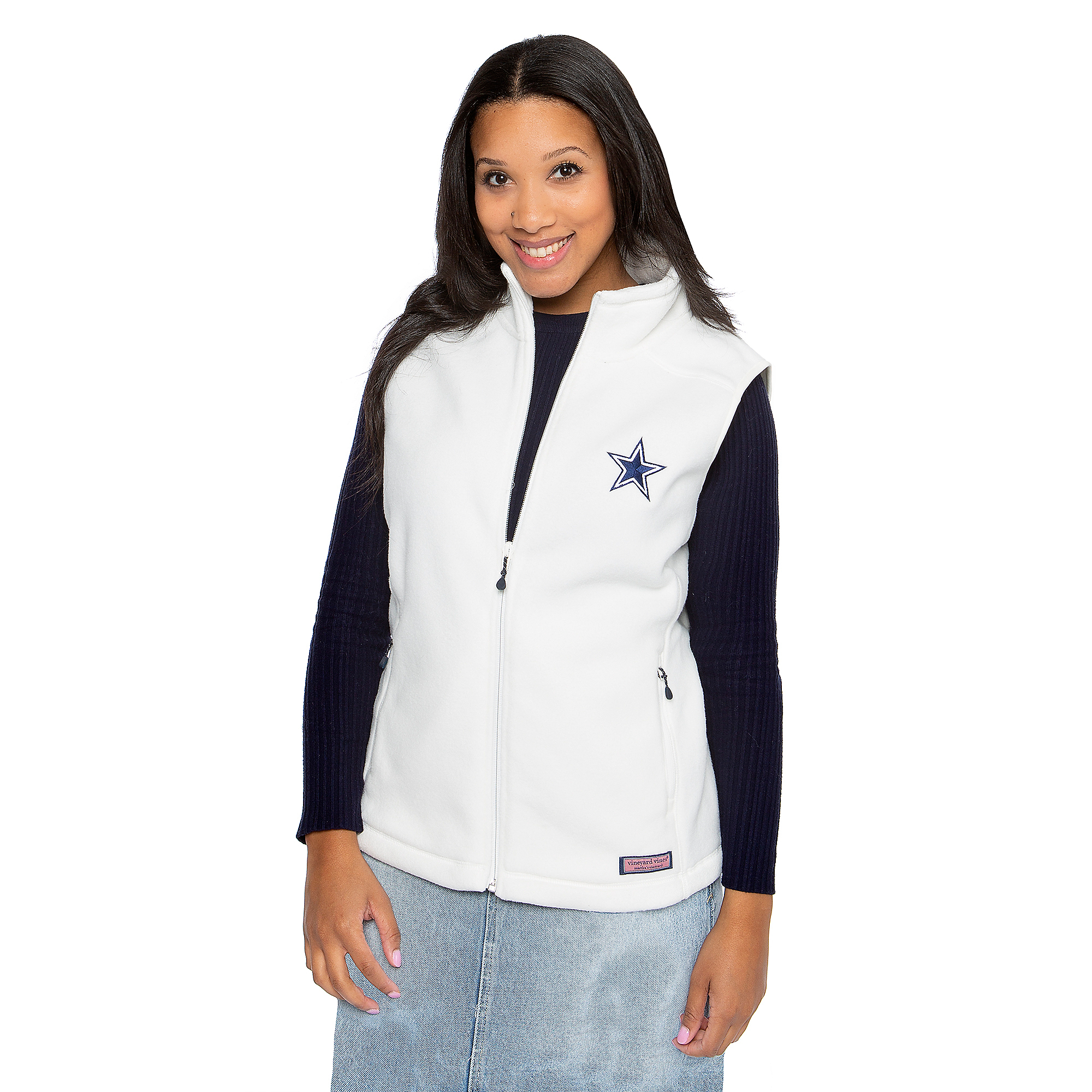 Dallas Cowboys Vineyard Vines Womens Westerly Fleece Vest