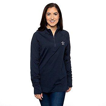 Dallas Cowboys Vineyard Vines Womens Solid Performance 1/4 Zip Pullover