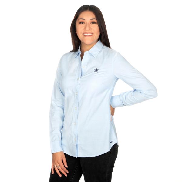 Dallas Cowboys Vineyard Vines Womens Logo Oxford Shirt