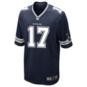 Dallas Cowboys Allen Hurns #17 Nike Navy Game Replica Jersey