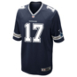 Dallas Cowboys Allen Hurns #17 Nike Navy Game Replica Jersey
