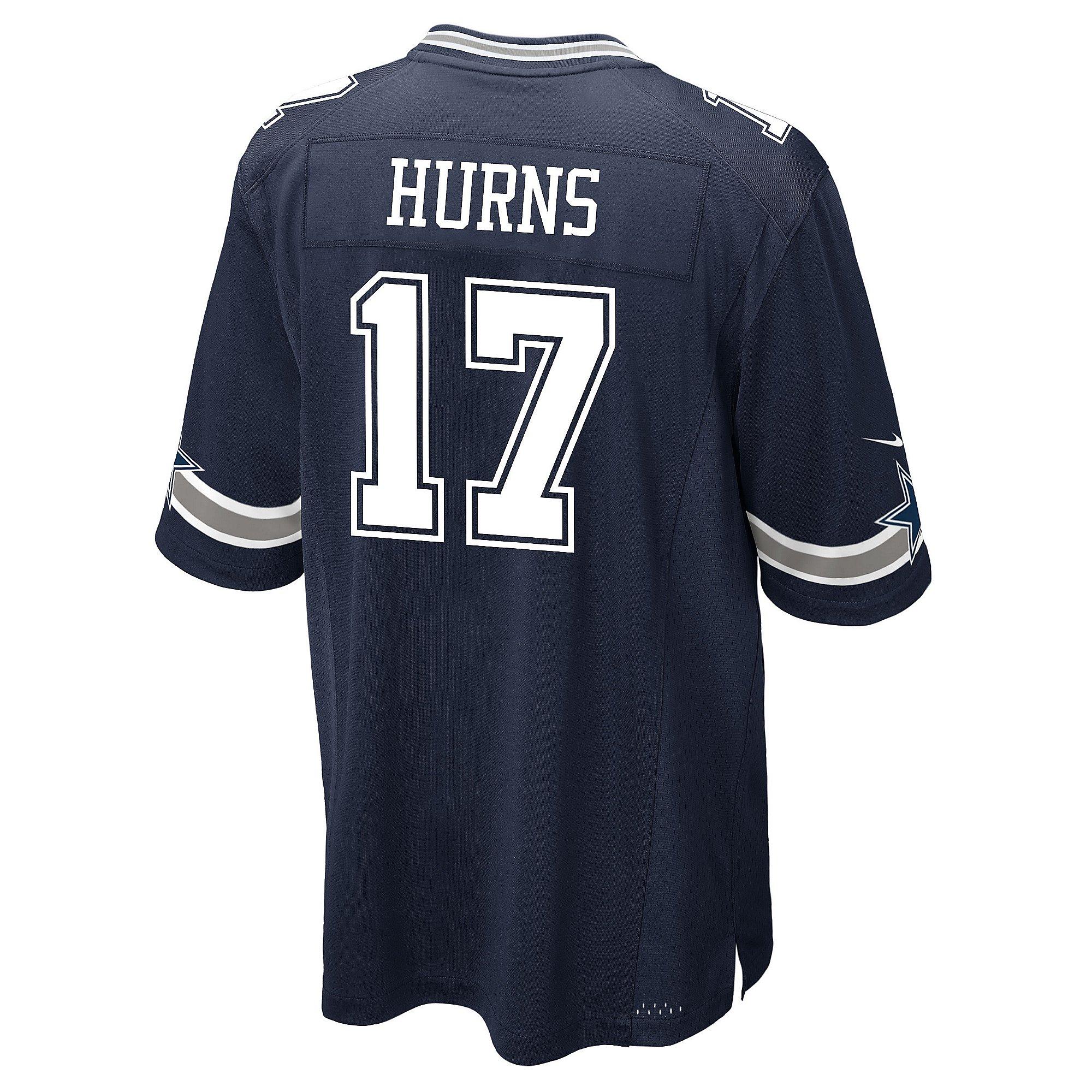 Dallas Cowboys Allen Hurns #17 Nike Navy Game Replica Jersey ...