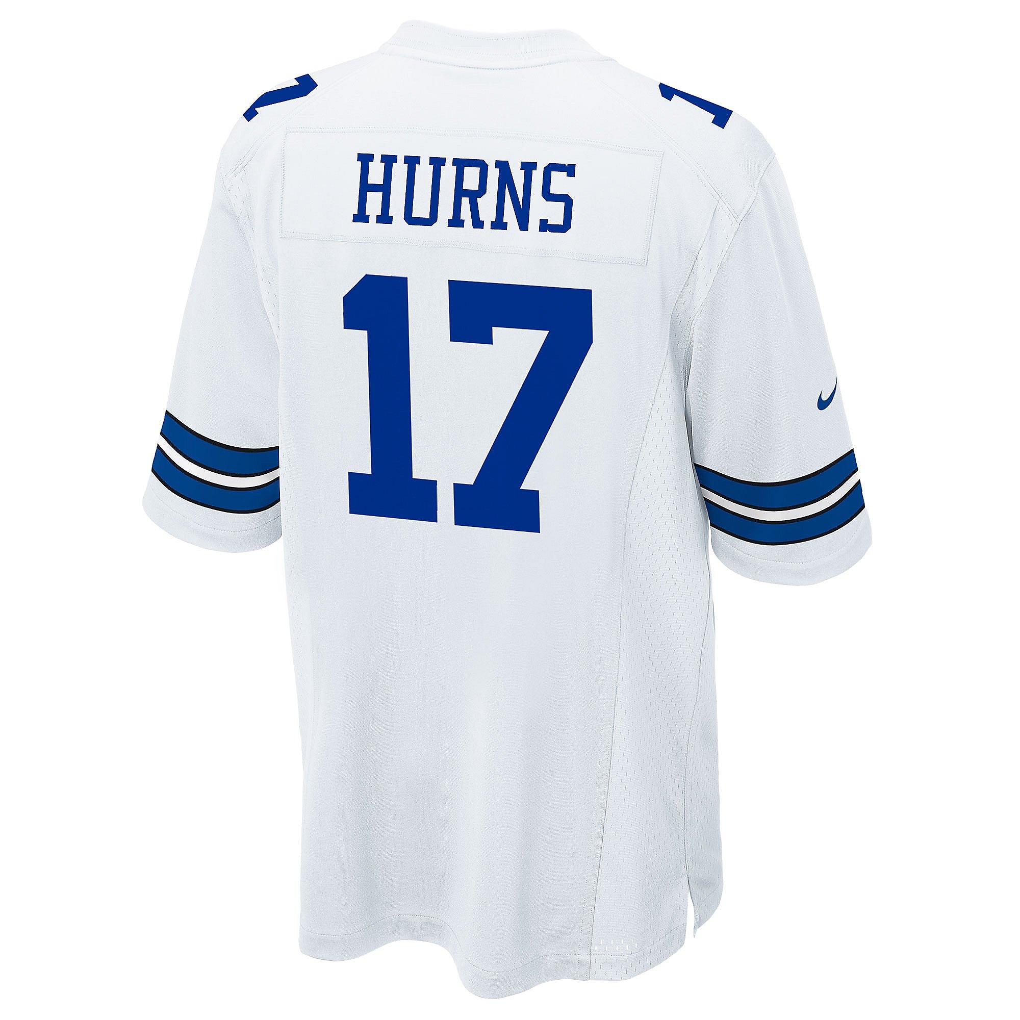 Dallas Cowboys Allen Hurns #17 Nike White Game Replica Jersey ...