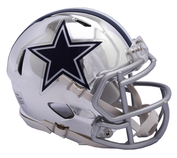 Dallas Cowboys Riddell Chrome Speed Replica Helmet