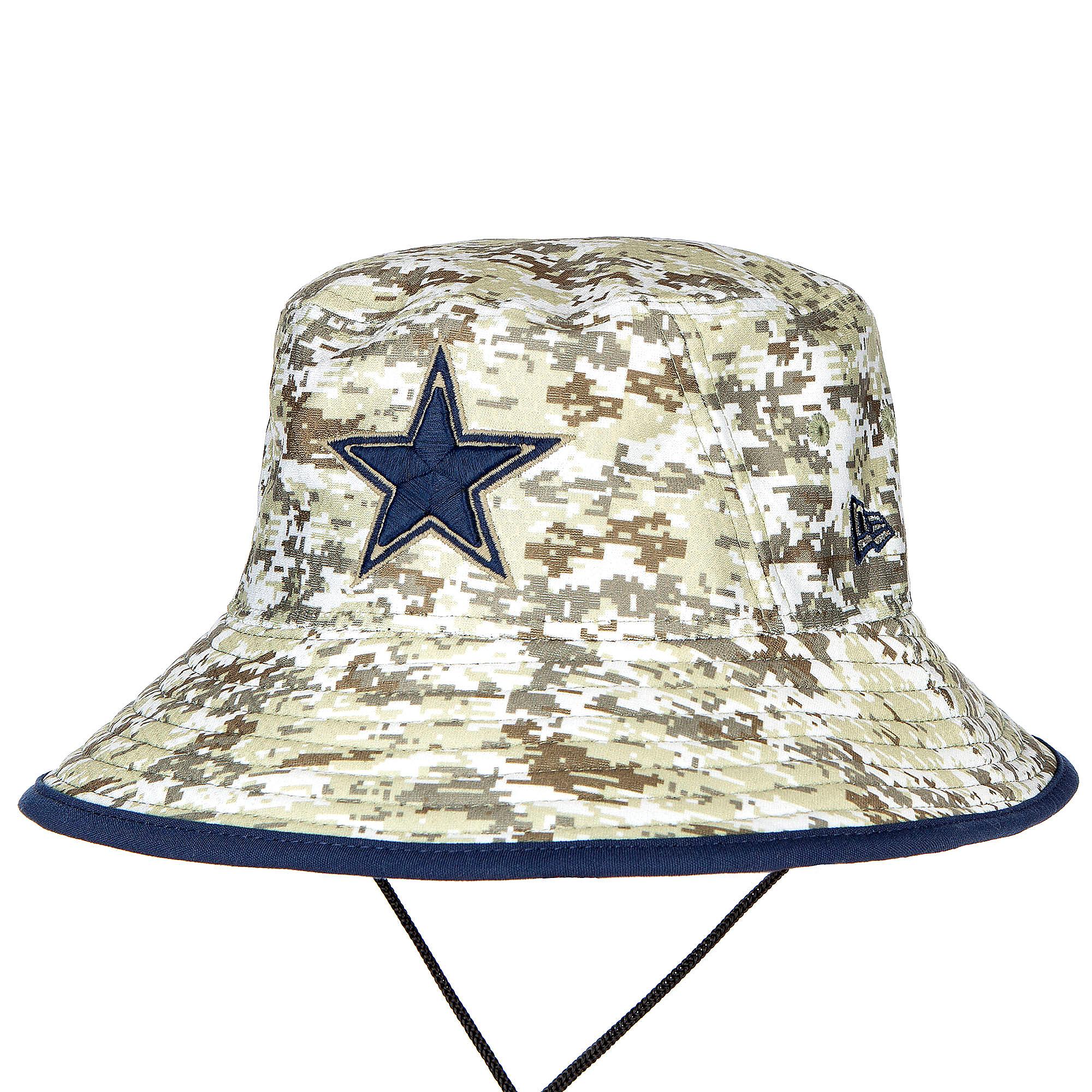 Dallas Cowboys New Era Salute to Service Digi Camo Bucket Hat