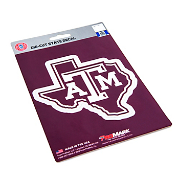 Texas A&M Aggies State Shape Decal