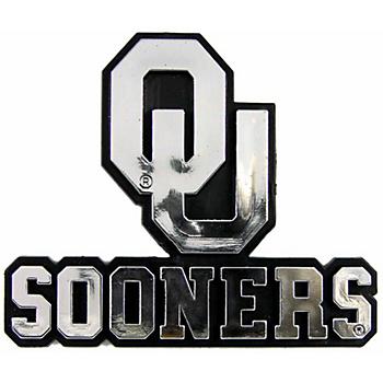 Oklahoma Sooners Chrome Auto Emblem