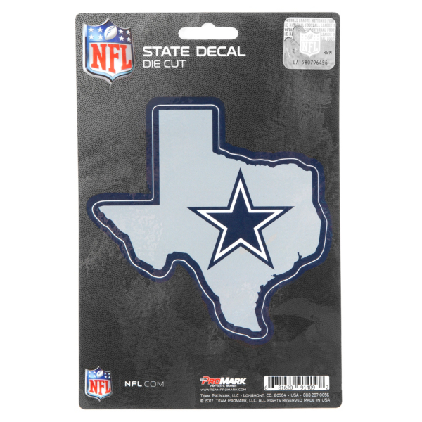 Dallas Cowboys State Shape Decal
