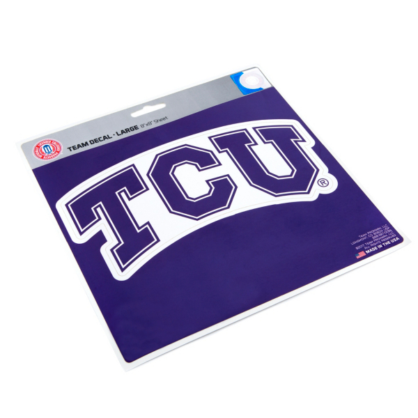 TCU Horned Frogs 8x8 Logo Decal